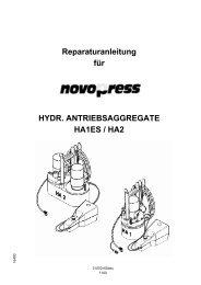 Reparaturanleitung für HYDR. ANTRIEBSAGGREGATE HA1ES / HA2
