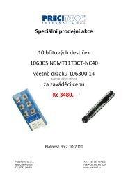 Speciální prodejní akce 10 břitových destiček ... - PRECITOOL CZ