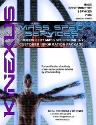 (PIMS) Customer Information Package - Kinexus Bioinformatics ...