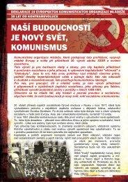 naší budoucností je nový svět, komunismus - Komunistický svaz ...