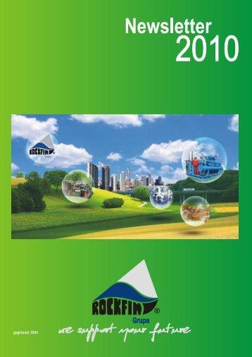 Newsletter der Firma Rockfin für das Jahr 2010
