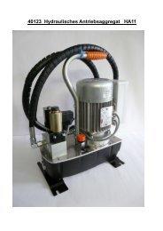 40123 Hydraulisches Antriebsaggregat HA11