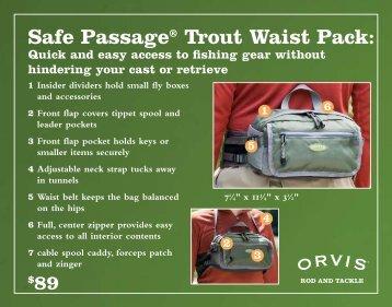 Safe Passage® Trout Waist Pack: