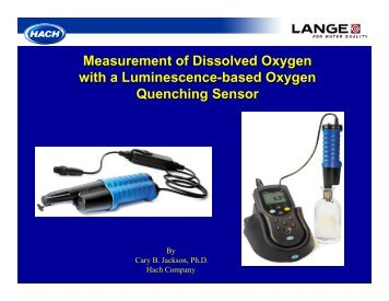 Measurement of Dissolved Oxygen with a Luminescence-based ...
