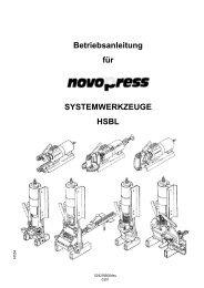 Betriebsanleitung für SYSTEMWERKZEUGE HSBL