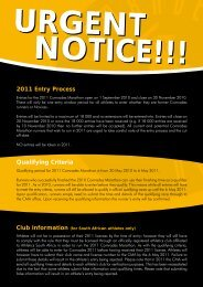 2011 Entry Process Qualifying Criteria - Alberton Athletic Club