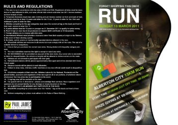 RULES AND REGULATIONS - Alberton Athletic Club
