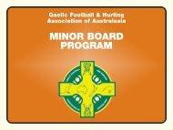 Minor Board Program - Gaelic Football & Hurling Association of ...