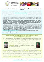 2 nd News Sheet for Parents & Carers in the Godalming ...