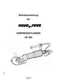 Betriebsanleitung für VERPRESSZYLINDER HP 300