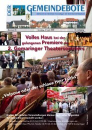Ausgabe :Gomaringen 27.06.09.pdf - Gomaringer Verlag