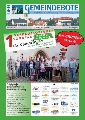Gomaringen 16.04.11.pdf - RegioMedia Verlag