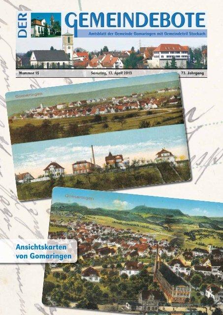 Ausgabe :Gomaringen 13.04.13.pdf - Gomaringer Verlag