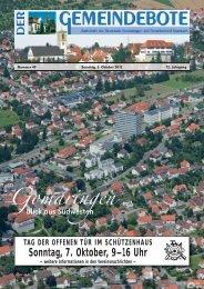Ausgabe :Gomaringen 06.10.12.pdf - Gomaringer Verlag