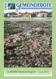 Ausgabe :Gomaringen 27.08.11.pdf - Gomaringer Verlag