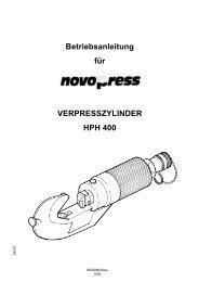 Betriebsanleitung für VERPRESSZYLINDER HPH 400