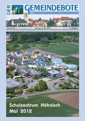 Ausgabe :Gomaringen 19.05.12.pdf - Gomaringer Verlag