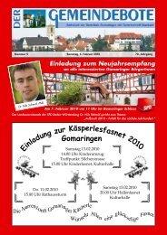 Ausgabe :Gomaringen 06.02.10.pdf - Gomaringer Verlag