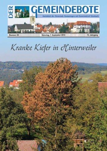 Gomaringen Aktuelle Ausgabe - RegioMedia Verlag
