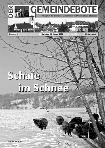 Gomaringen 10.01.09.pdf - Gomaringer Verlag