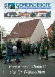 Ausgabe :Gomaringen 17.12.11.pdf - Gomaringer Verlag