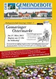 Ausgabe :Gomaringen 26.03.11.pdf - Gomaringer Verlag