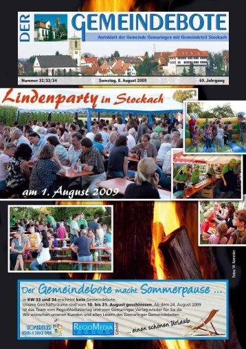 Ausgabe :Gomaringen 08.08.09.pdf - Gomaringer Verlag