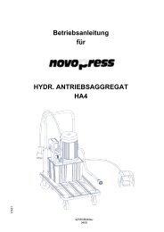 Betriebsanleitung für HYDR. ANTRIEBSAGGREGAT HA4