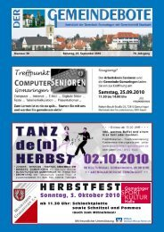 Ausgabe :Gomaringen 25.09.10.pdf - Gomaringer Verlag
