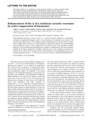 LETTERS TO THE EDITOR Enhancement of the Q of a nonlinear ...