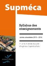 Catalogue des cours - Supméca