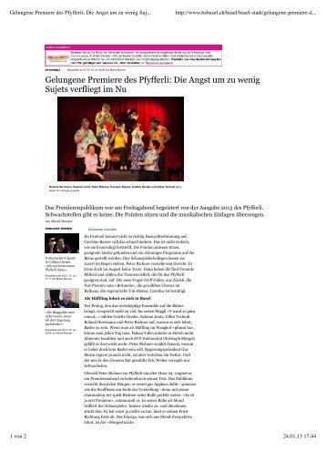 Basellandschaftliche Zeitung 7.1.2013