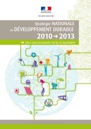 Stratégie nationale de développement durable 2010-2013 - France ...