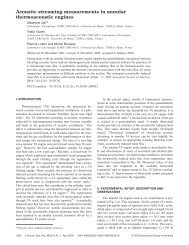 Acoustic streaming measurements in annular thermoacoustic engines