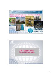 Day 3: Long-term trends: Tourism 2020 Vision update