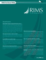 RIMS Re-Brand FAQs