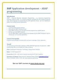 SAP Application development – ABAP programming