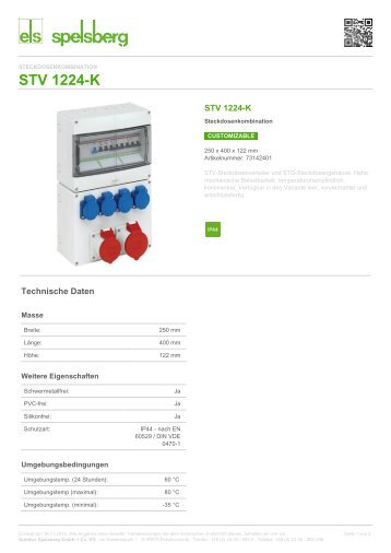STV 1224-K - Steckdosenkombination (73142401) - Spelsberg
