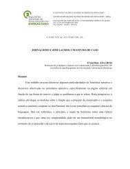 Jornalismo e simulacros - SBPJor