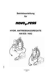 Betriebsanleitung für HYDR. ANTRIEBSAGGREGATE HA1ES / HA2
