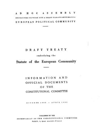 OFFICIAL DOCUMENTS - Archive of European Integration