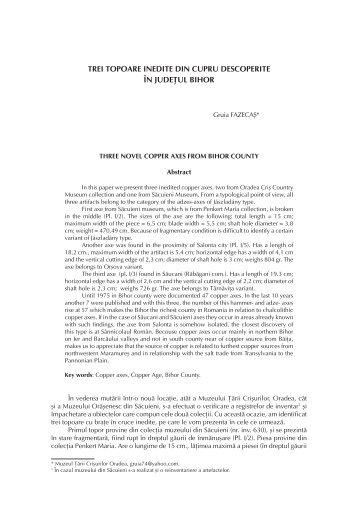 articol complet (pdf) - Crisia