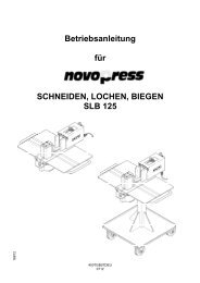 Betriebsanleitung für SCHNEIDEN, LOCHEN, BIEGEN ... - Novopress
