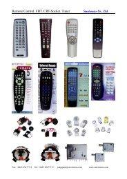 Remote Control. FBT. CRT-Socket. Tuner - Sinotronics Co.,Ltd.