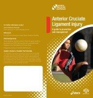 Anterior Cruciate Ligament injury - Sports Medicine Australia