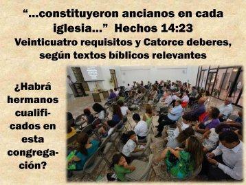 """…constituyeron ancianos en cada iglesia ... - Editorial La Paz"