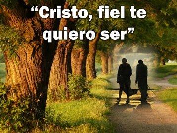 Cristo fiel te quiero ser.pdf - Editorial La Paz