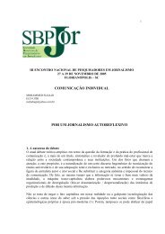 comunicação individual por um jornalismo autoreflexivo - SBPJor