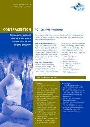 CONTRACEPTION for active women - Sports Medicine Australia