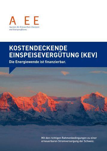 kostendeckende einspeisevergütung (kev) - Agentur für ...